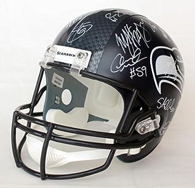 Seattle Seahawks 2015 Team Signed Autographed Riddell Full Size Replica Helmet PAAS COA Wilson Lynch Sherman