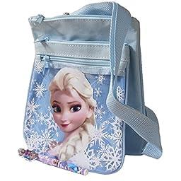 Disney Frozen Snow Blue 2 Layers Elsa Medium Shoulder Bag with Beautiful Pen