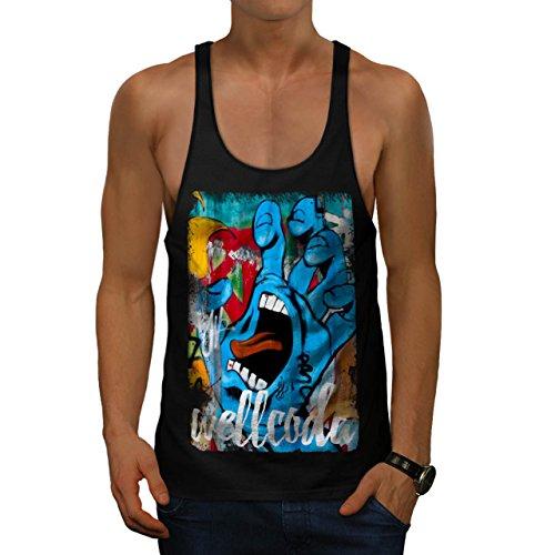 screaming-palm-color-street-art-men-new-black-l-gym-tank-top-wellcoda