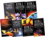 Kevin J. Anderson Saga of Seven Suns 7 Books Collection Set RRP: £62.24 (Saga of Seven Suns) (Saga of Seven Suns Collection) (Hidden Empire, A Forest of Stars, Horizon Storms , Scattered Suns , Of Fire and Night , Metal Swarm , The Ashes of Worlds) Kevin