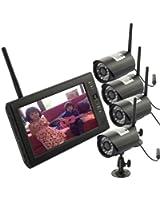 Magicfly® Bébé Vidéo Kit vidéo surveillance sans fil TFT LCD moniteur 2.4GHZ Système DVR Caméra de surveillance vidéo surveillance sans fil bébé vidéo avec 4 Caméras