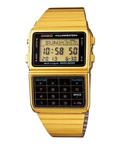 Casio #DBC611G-1D Men's Gold Tone 25 Memory Calculator Databank Watch (Classic Calculator compare prices)