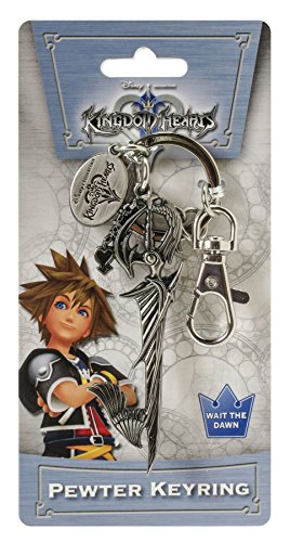 Disney Kingdom Hearts Sword Pewter Key Ring - 1