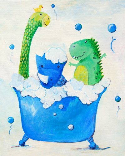 Cici Art Factory Wall Hanging, Dino Bath