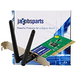 JacobsParts® 802.11N Wireless LAN PCI Network Adapter Card 300Mbps - Ralink RT3062F Chipset
