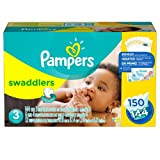 Pampers Swaddlers Diapers, Size 3 (16-28 lbs.), 148 ct.