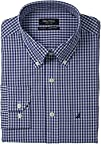 Nautica Mens Gingham Poplin Dress Shirt