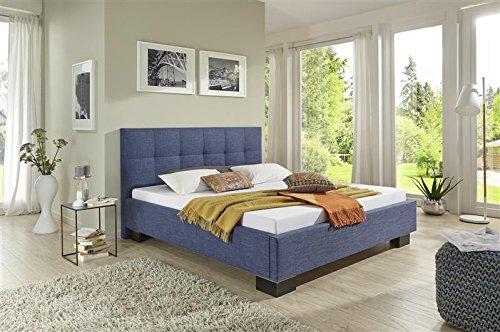 Breckle Polsterbett, Bett 160 x 200 cm Andrus Comfort 38 cm Höhe Stärke 3 cm Überstehend Textil schwarz