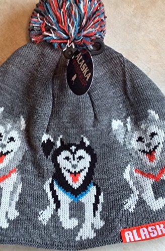 Alaska Beanie Hat Skull Sled Dogin Row Team Knit Stocking