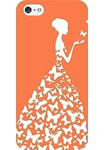 AMEZ designer printed 3d premium high quality back case cover for Apple iPhone 5 (orange white girl princess)