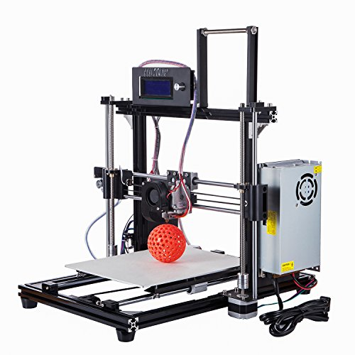 HICTOP Prusa I3 DIY 3D Printer Aluminum Frame Desktop Computer FDM Printer Support PLA/ABS/Wood/HIPS/Flexible Filament