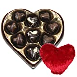 Valentine Chocholik's Belgium Chocolates - Be Mine Chocolates Box With Heart Pillow