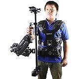 Videook 1-7Kg Carbon Fiber Stabilizer Sled Support Dual Arm Vest for Taking Video