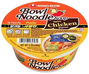 Nong Shim Bowl Noodle Spicy Chicken 303-ounce Bowls Pack Of 12 by Nong Shim