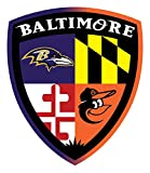 "BALTIMORE ORIOLES RAVENS Fan Sport Logo 4""x5"" Sticker Decal Vinyl"