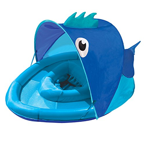 Swim School- Confidence Building System Fish Sun Shade Baby Float