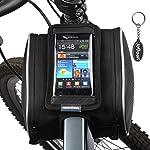 ROSWHEEL フレームバッグ/自転車バッグ(マウンテンバイク/ママチャリ/折りたたみ 自転車/電気自転車に適用) スマホ/GPSナビゲーションバッグ iPhone/ Samsung/ HTC /Nokia /Sony/ LG等多くのスマートホンに対応のフロントトップチューブバッグ 1.8L 12813
