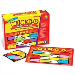 Wingo Short Vowels Bingo Game