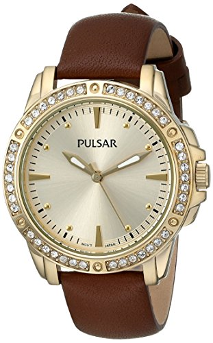 Pulsar Three-Hand Leather - Brown Women's watch #PH8094