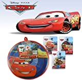 Disney Pixar Cars 11 Velcro Dart Game Board with Ball! Featuring Lightening McQueen! Includes FREE BONUS Cars Night Light w/ Pruchase!