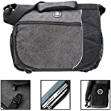 "SwissGear Earth Messenger 16"" Computer Laptop / Ipad Case. Business Briefcase Charcoal Gray"