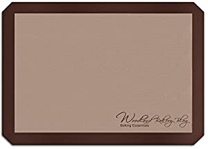 Premium, Professional Grade Non-Stick Silicone Baking Mat, Half Sheet Pan, 16-1/2 inches x 11-5/8 inches | Woodland Bakery Blog
