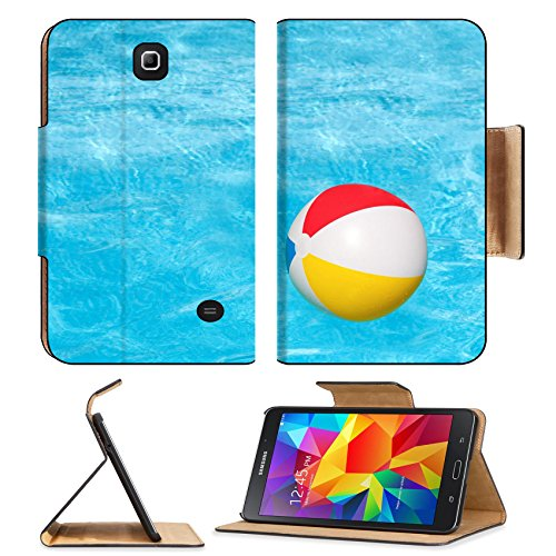 Flip Pu Leather Wallet Case Samsung Galaxy Tab 4 7.0 Inch MSD Premium Inflatable colorful ball floating in the swimming pool IMAGE 30213623