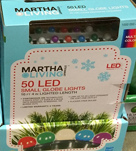 50-Light Multi-Color Mini Smooth Globe Light Set