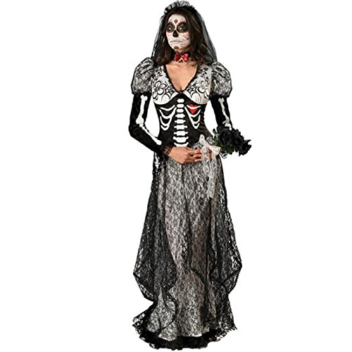 Mocoz Halloween Cosplay Costume Party Costumes Women's Ghostly Gal Costume