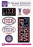 Pi Sigma Epsilon Sticker Sheet - American Theme. 8.5