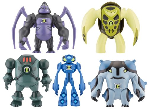 Picture of Bandai Ben 10 Ultimate Alien Set of 5 - Ultimate Spidermonkey, Terraspin, NRG, Ultimate Echo Echo & Ultimate Cannonbolt Toy Figure Set (B004FH9HEE) (Ben 10 Action Figures)