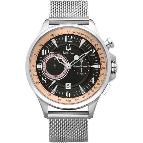 Bulova 96B139 Mens Adventurer Chronograph Silver Black Watch