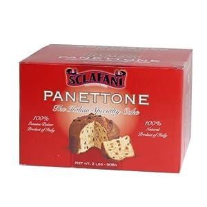 Sclafani Panettone Traditional Italian Cake in 2 lb. Box (2 Boxes)