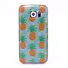 buy Grandey For Galaxy S6 Case,Flash Powder Tpu Rubber Soft Back Cover Case (Pineapple)