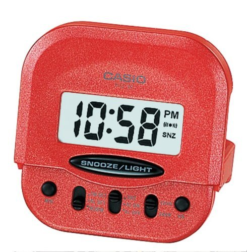 Casio - Pq-30-4Ef - Alarm Clock - Quartz - Digital - Alarm - Leather Strap