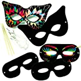 Scratch Art Masks (Pack of 10)
