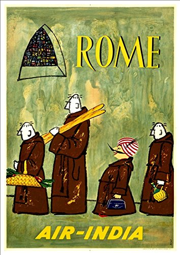 air-india-rome-wonderful-a4-glossy-art-print-taken-from-a-rare-vintage-travel-poster