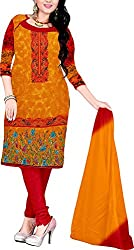 RedHot Fashion Women's Cotton Unstitched Salwar Suit Dress Material (RHJS1003)