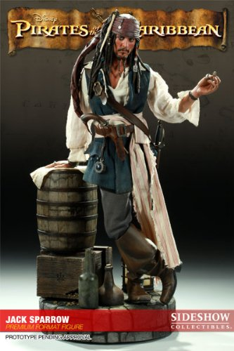 Buy Low Price Sideshow Pirates of Carribean Jack Sparrow Premium Format figure (B00438UCSK)