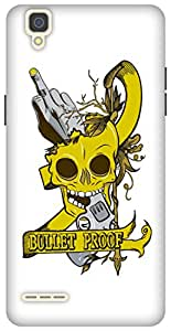 The Racoon Grip printed designer hard back mobile phone case cover for Oppo F1. (Bullet Pro)