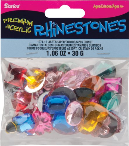 Darice Craft Designer Assorted Shape Gemstones - 30gr/Multi