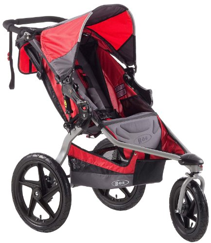 BOB Stroller Strides Single Fitness Stroller, Red - 1