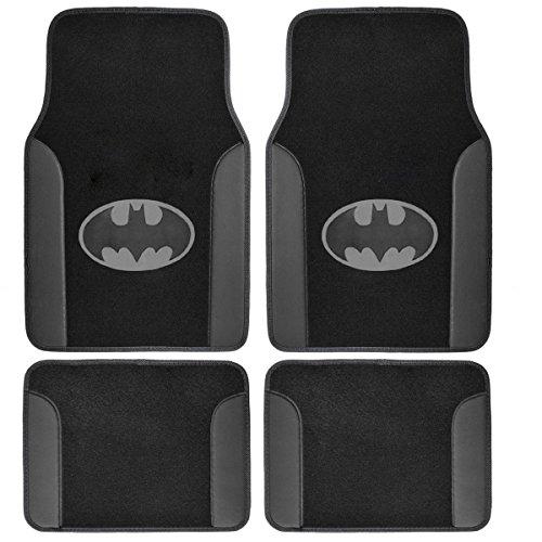 Batman Vs Superman - Set of 4 Universal Fit Plush Carpet Floor Mats for Cars / Trucks (Batman) (Batman Mats Car compare prices)