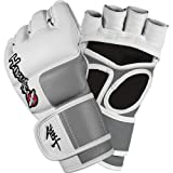 Hayabusa Official MMA Tokushu 4 oz. MMA Gloves – White/Slate Grey / Medium