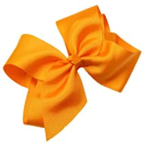 Hair Bows  Extra Large GrosGrain Bow with Tied Center on Alligator Clip