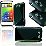 NEW STYLISH BLACK S LINE GEL JELLY CASE COVER FOR HTC TITAN X310e
