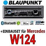 Mercedes-W124-E-Klasse-BLAUPUNKT-Brisbane-230-MP3USB-Autoradio-inkl-Bluetooth-Einbauset