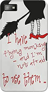 DailyObjects Flying Monkeys Case For BlackBerry Z10
