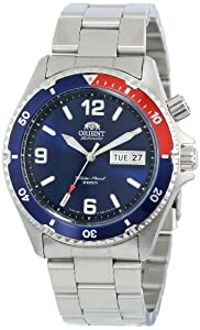 Orient Mens CEM65006D Blue and Red Bezel Automatic Dive Watch