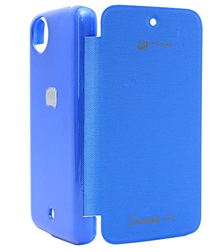 DMG Premium Leather Flip Cover for Micromax Canvas A1 Android One Mobile (Royal Blue)